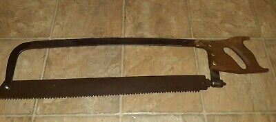 Vintage Large Henry Disston Sons Warranted Meat Saw. Blade Is 23 Inches Long