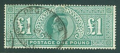 SG 266 £1 dull blue-green. Very fine used with a registered oval cancel. Good...