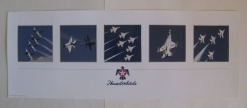 USAF Thunderbird Art Department 5 Photo Panel ( Local Pick Up Only! )