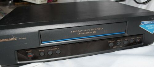 Panasonic PV-7450 OmniVision VHS 4 Head Hi-Fi Stereo VCR (tested working)