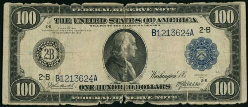 1914 $100 One Hundred Dollar New York Federal Reserve Note Fr#1088