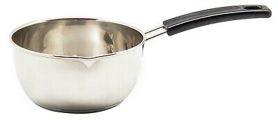 Uniware 1.25 Quart Stainless Steel Sauce Pan, 6.75 x 2.5 Inches, Silver Dishwasher Safe Steel Sauce Pan