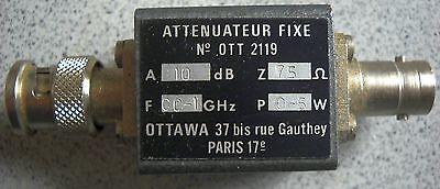 OTTAWA Attenuator Abschwächer 75 Ohm, 10dB