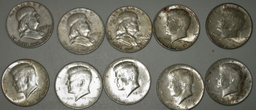 10 Silver Half Dollars