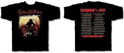 CHILDREN OF BODOM cd cv HELLHOUNDS ON MY TRAIL Official TOUR SHIRT LAST S