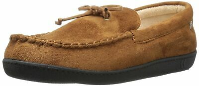 men s microsuede moccasin slipper with cooling