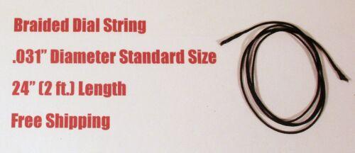 "24"" Dial Cord Braided Nylon Tuner String  - Old Antique Vintage Tube Radio"