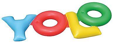Swimline Inflatable YOLO! Swimming Pool Backyard Fun Raft Float Toy Tube | 90631