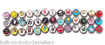 Picture Logo Cartoon Tongue Bar Barbell Continued - 9 Styles - 4 Lengths