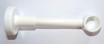 Träger Kunststoff weiss für 20 mm Gardinenstangen