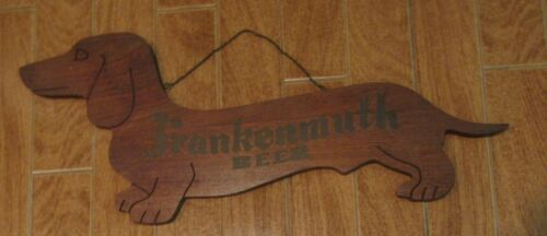 Vintage Authentic FRANKENMUTH BEER SIGN Dachshund Dog Bar