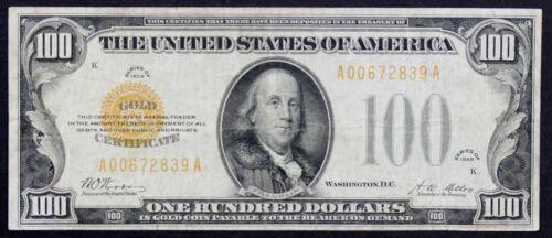 1928 $100 Gold Certificate