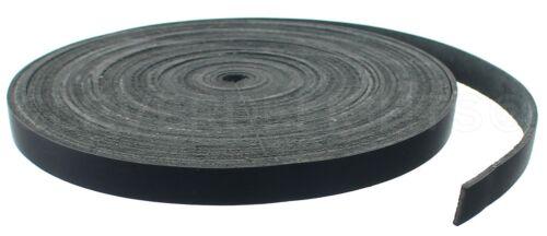 "1/2"" Black Leather Straps - 13mm Genuine Cowhide Leather Strip 7 15 30 Feet"