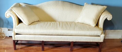 Hickory Chair Sofa Mahogany Chippendale Camel Back New Fabric
