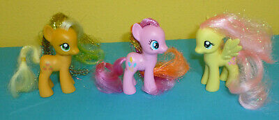 My Little Pony Applejack Fluttershy & Pinkie Pie Tinsel Mane G4