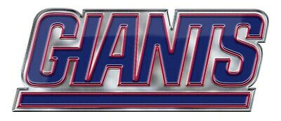 New York Giants Alternative Logo Color Metal Auto Emblem Chrome Decal Football