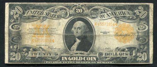 FR. 1187 1922 $20 TWENTY DOLLARS GOLD CERTIFICATE CURRENCY NOTE