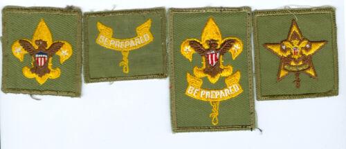 Lot Of 4 MINT 1960s Vintage Boy Scout Rank Patches