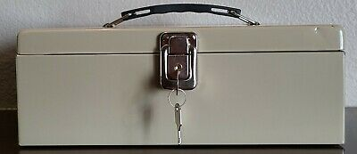 Vintage Rockaway Metal Money Safe Lock Box With Key 11 X 8 X 4 Usa