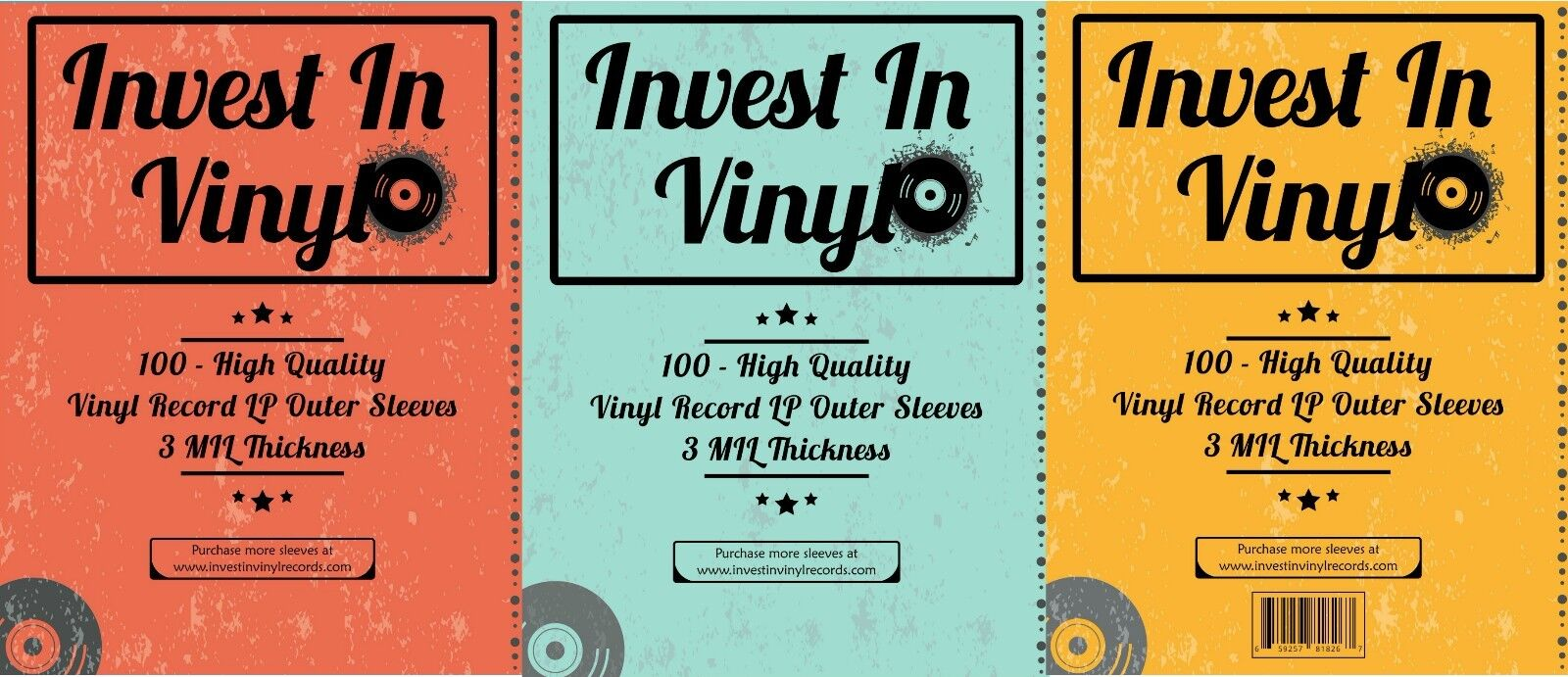 100 Clear Plastic Lp Outer Sleeves 3 Mil High Quality Vinyl Record