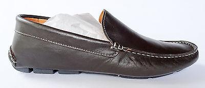 Barneys New York Dark Brown Nappa Leather Venetian Drivers Loafers US 9 NIB
