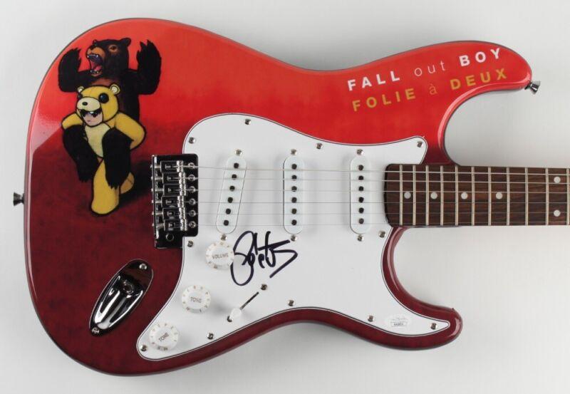 Pete Wentz Signed Guitar Custom 1/1 Graphics Fall Out Boy JSA COA 🎸🤘🏻