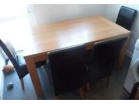 Large Dining Table with 6 Chairs for Sale