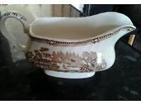 Staffordshire gravy boat / jug