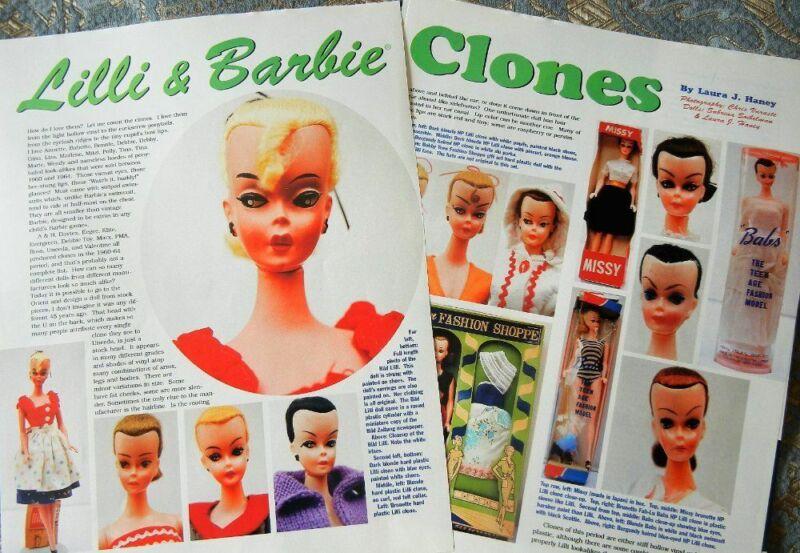 6p History Article - Antique Bild Lilli & Barbie Doll Clones - Missy+