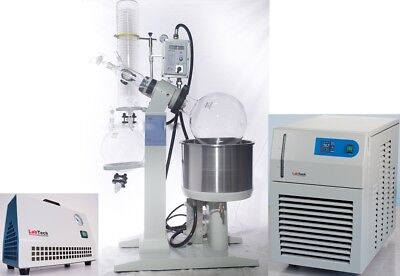 Explosion Proof 20l Rotary Evaporator Chiller Vacuum Pump Bundle By Labtech