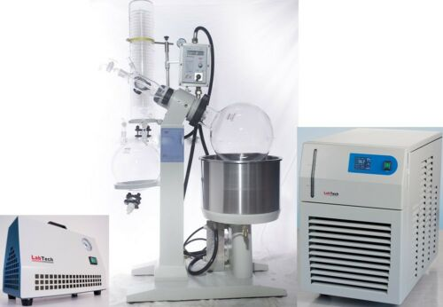 20L Rotary Evaporator Complete Turnkey Package, Chiller+Vacuum Pump