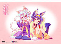 No Game No Life Wall Scroll Poster Officially Licensed CWS-20442 New