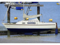22ft Pandora International Sailing boat with Johnson 4hp outboard