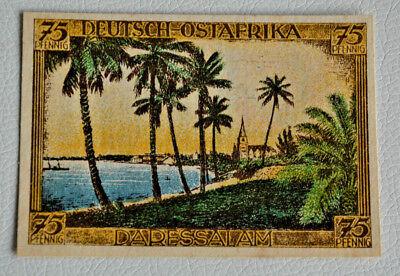 """DERESSALAM"" Deutsche-Ost-Afrika Kolonien Notgeld 75 Pfg Kolonialgedenktag (3138"