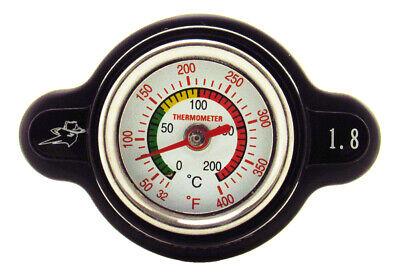 Outlaw Racing High-Pressure Temperature Gauge Radiator Cap 1.8 Temp Monitoring