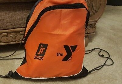 Jr Suns Basketball Orange Draw String Bag Kids Backpack - Junior Drawstring Backpack