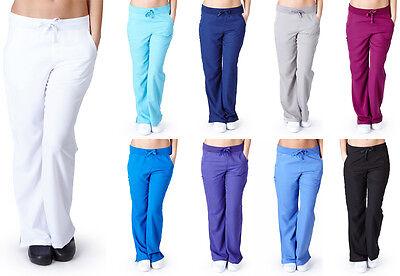 Ultra Soft Medical Nurse Uniform Womens Junior Fit Flare Leg  Cargo Scrub Pant