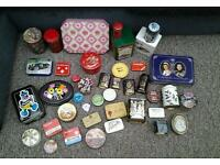 Job lot of tins some old all interesting