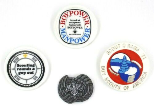 Lot of 4 Neckerchief Slides Boy Scouts BSA