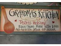Grandmas Kitchen sign