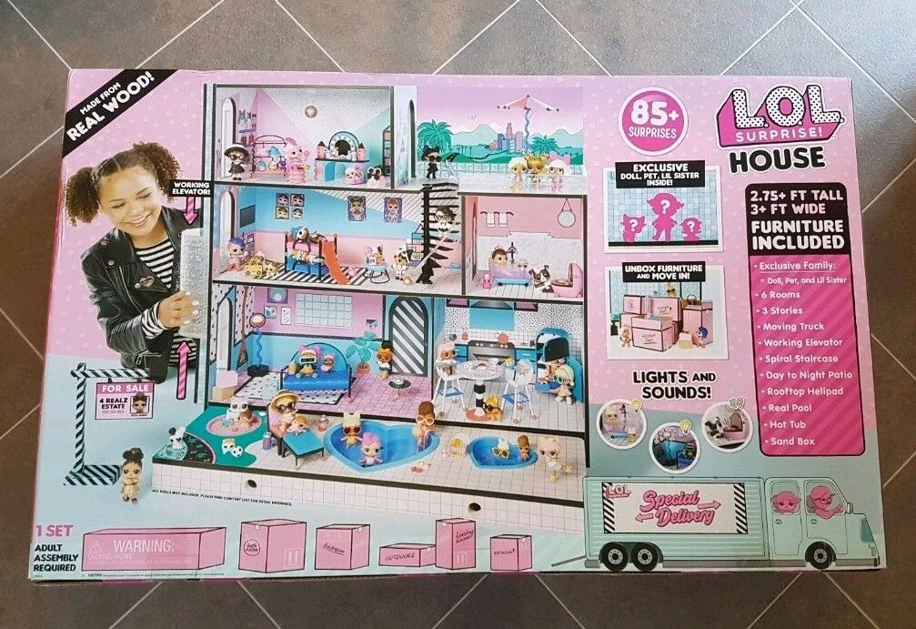 L O L Surprise House 85 Surprises Brand New Still Sealed In