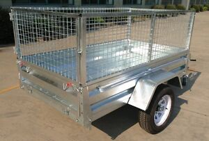 TRAILER NEW GAL TILT HEAVY DUTY 7 x 4 BOX TRAILER Southport Gold Coast City Preview