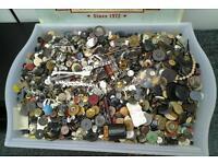 Vintage buttons job lot 3.5 kg loft find
