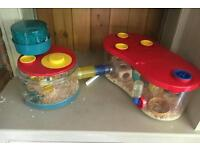 Rotastak hamster cage with extensions
