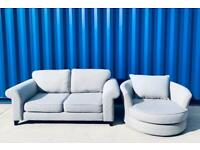 dfs® grey 3 seater sofa + swivel chair. Sofa Set Like New £450. Can Arrange Delivery