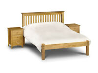 Solid wood Barcelona Double Bed Frame by Julian Bowens