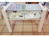 Glass lockable display cabinets **bargain**