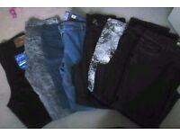 Ladies jeans x 8pairs 16/18