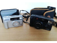 Vintage Job lot working Samsung Fino 800 & Chinon Auto 3501 cameras and cases