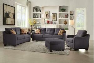 3PC FABRIC SOFA SET $999 JUST A FEW SETS LEFT  LOWEST PRICES GUARANTEED TO SAVE YOU TIME & MONEY